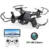 EACHINE E61HW Mini Drohne mit Kamera Live Übertragung für Kinder Anfänger WiFi FPV ,Kopflos Modus,3D Flip,Höchenhaltung, RC Quadrocopter, Anfänger RTF (Schwarz)