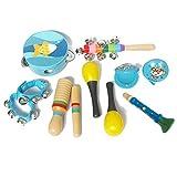 Musikinstrumente Set Für Kinder Aus Holz, Kinder Spielzeug Set, Holzspielzeug Musical Percussion Instrumente Set Für Kleinkinder Und Baby, Musik Kinderspielzeug Geschenke, Für Mädchen Und Jungen