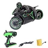 Batop RC Motorrad Ferngesteuertes Auto Spielzeug fur Kinder, 2.4Ghz High Speed Driften RC Motorräder (Grün)