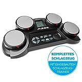 Alesis CompactKit 4 - ultramobiles elektronisches Tabletop-Drum-Kit mit 4 anschlagdynamischen Drum-Pads, 70 Drum-Sounds, Lernmodus, Game-Funktionen, Stromversorgung über Batterie oder Netzteil