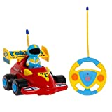 TOYEN TE1601112 RC Cartoon-Rennauto Action-Figur, ferngesteuertes Spielzeug mit Musik, Rot