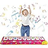 Klaviermatte, Musik Teppich Touch Play Tastaturmatte für Baby Kleinkind lustige Spieldecke Musikinstrument Spielzeug Matte großes Baby Spielzeug Geschenk für Geburtstag Weihnachten (Lila2)