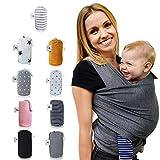 Fastique Kids Tragetuch - elastisches Babytragetuch für Früh- und Neugeborene inkl. Baby Wrap Carrier Anleitung
