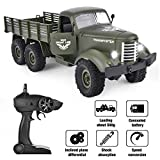 GotechoD Ferngesteuertes Auto mit Fernbedienung, RC Militär Truck 2.4Ghz 1/16 6WD als Geschenke für Kinder Jungen Erwachsene