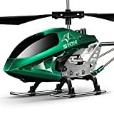 SYMA Hubschrauber ferngesteuert Helikopter Fernbedienung RC Helicopter Indoor Outdoor Flugzeug Geschenk Kinder S107H-E 3.5 Kanal 2.4 Ghz LED Leucht Gyro Höhe halten Grün