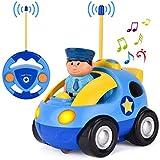 GotechoD Ferngesteuertes Polizeiauto Auto mit Fernbedienung, Spielzeugauto ab 2 Jahren Polizeiauto mit Sirene und Licht