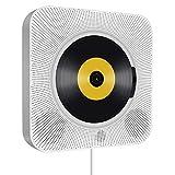 Tragbarer CD Player, wandmontierbar Bluetooth eingebaute HiFi-Lautsprecher für Kinder, die Heim-Audio-Boombox mit Fernbedienung, FM-Radio, USB mp3 Kopfhöreranschluss, Power an oder aus mit Zugschalter
