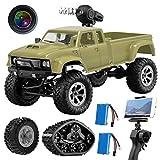 GILOBABY Kamera RC Autos Elektrisches Ferngesteuertes Spielzeugs, Remote Control Autos mit Live Übertragung 4WD 2Motor 2.4G FPV WiFi (App) Kamera 2 Sätze Reifen, RC Auto für Kinder Erwachsener (Autos)