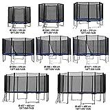 Baunsal GmbH & Co.KG Gartentrampolin Kindertrampolin Trampolin 244 bis 250 cm blau komplettes Set mit Sicherheitsnetz und Einstiegsleiter ...