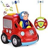 Feuerwehr Ferngesteuertes Auto Feuerwehrauto mit Sirene und herausnehmbare Feuerwehrmann Figur