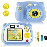 Lovebay digital Kamera für Kinder,HD Kinderkamera 1500 Megapixel und 1080p Videokamera,mit 2.0 Zoll Farbdisplay und 16 GB Speicherkarte (Blue)