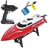 SGILE Ferngesteuertes Boot für Pool & Outdoor, 25 KM/H RC Rennboot mit 180º Flip Reset, 2,4 Ghz High Speed RC Boote Racing Boot für Erwachsene Jungen Mädchen Geschenk