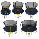 Zero Gravity Kinder Ultima 4 with Safety Enclosure Netting and Ladder High Spec Trampoline, Blue/Yellow, 183cm