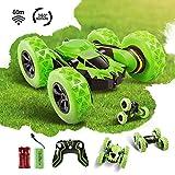 Innoo Tech Ferngesteuertes Auto Wiederaufladbar RC Stunt Auto Rennauto mit 2,4 Ghz Fernsteuerung, High Speed Spielzeugauto, Radio Ferngesteuerter Buggy Auto, Rennfahrzeug für Kinder Junge (Grün)