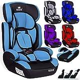 Kidiz Autokindersitz Kinderautositz  Gruppe 1+2+3  9-36 kg  Autositz  Kindersitz | Stabil und Sicher | Farbe: Hellblau