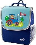 Mein Zwergenland Kindergartenrucksack Happy Knirps Next mit Name Traktor, 6L, Blau