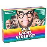 Wer lacht, verliert! Das lustigste & dümmste Brettspiel Aller Zeiten - Witziges Niveaulimbo für Erwachsene