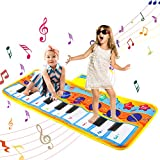 LITTLE 8 Piano Matte, Baby Musikteppich Tanzmatte Musikmatte Kinder, 5 Modi & 8 Musikinstrument Touch Kriechen Klaviertastatur Faltbare Spielmatte Geschenk für Kleinkind Jungen Mädchen 80 * 28cm