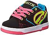 Heelys M&AumlDchen Propel 2.0 770516 Lauflernschuhe Sneakers, Black/Lilac, 34 EU / 2 UK