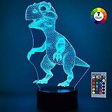 SOKY Geschenke für Jungen ab 3-10, 3D Dinosaurier Nachtlicht Dino Spielzeug für Kinder 2-10 Jahre Kinder Spielzeug für Jungen 3-10 Jahre Geschenke für Kinder 3-10 Jahre T-Rex Geburtstagsgeschenk