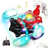 Swonuk RC Stunt Auto 360° RC Rennauto mit Fernbedienung und LED-Licht Wiederaufladbar Stunt Car Ferngesteuert Spielzeugauto für für Kinder Jungen Mädchen.