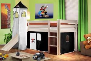 Kinderhochbett mit Rutsche Platz 1
