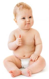 Baby-Daumen-hoch